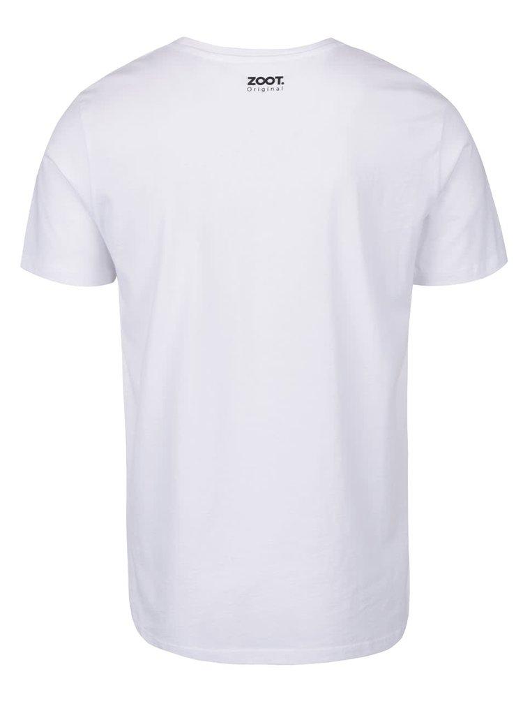 Tricou alb cu imprimeu ZOOT Original pentru barbati