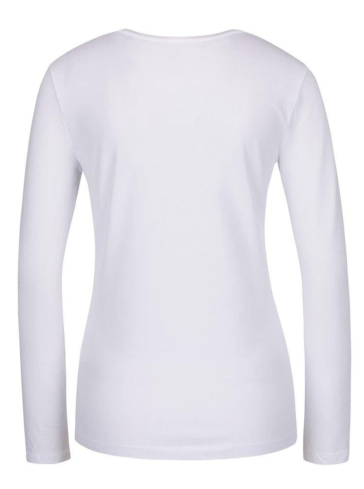 Bílý horní díl pyžama s potiskem Lipsy