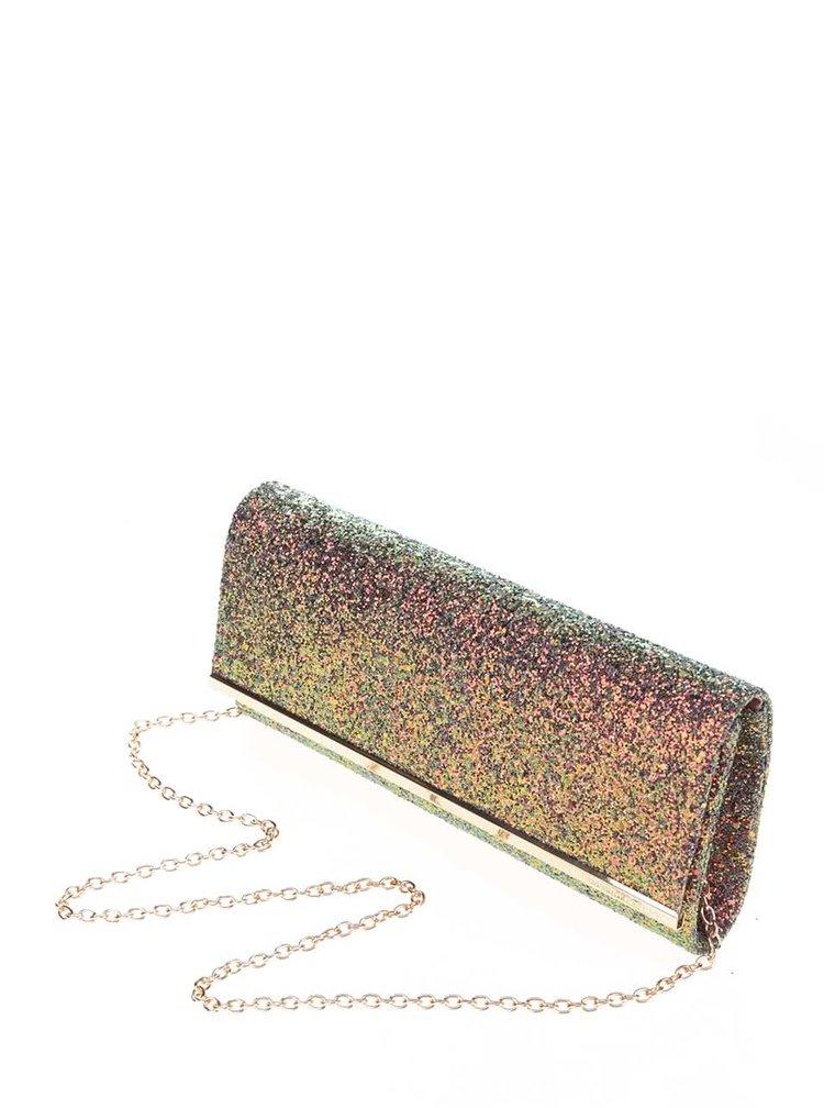 Geanta plic roz cu particule stralucitoare Dorothy Perkins