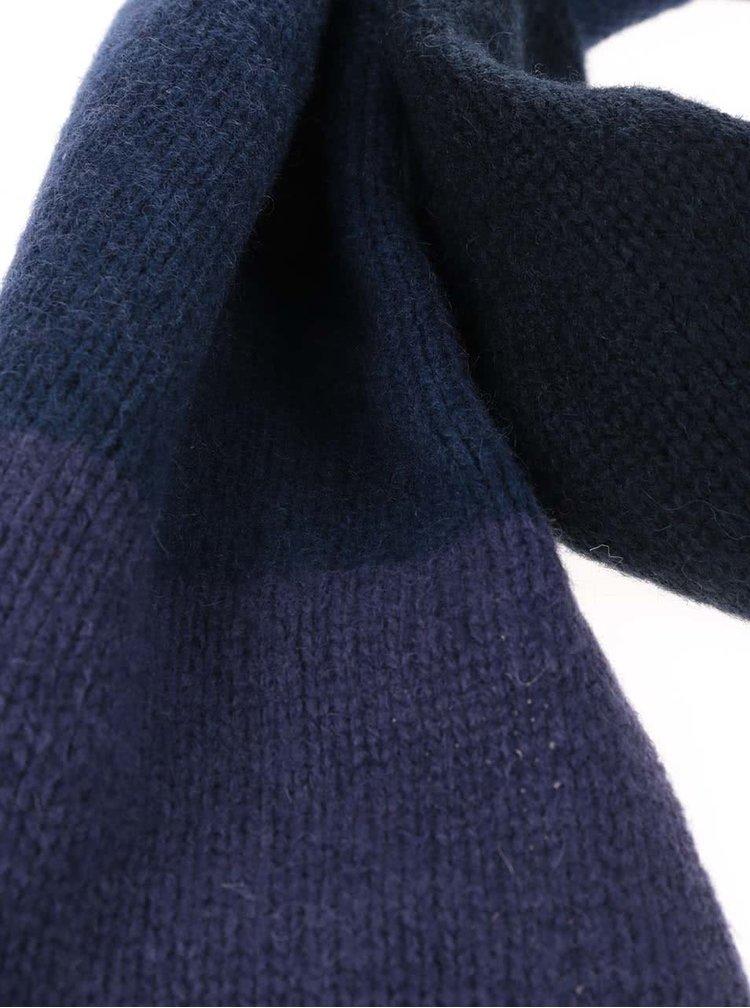 Fular albastru & violet Dice cu model in dungi