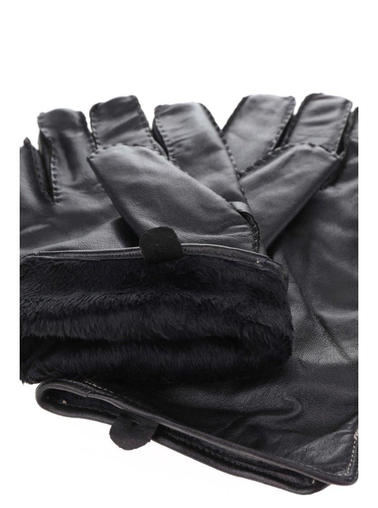 Mănuși negre Dice din piele