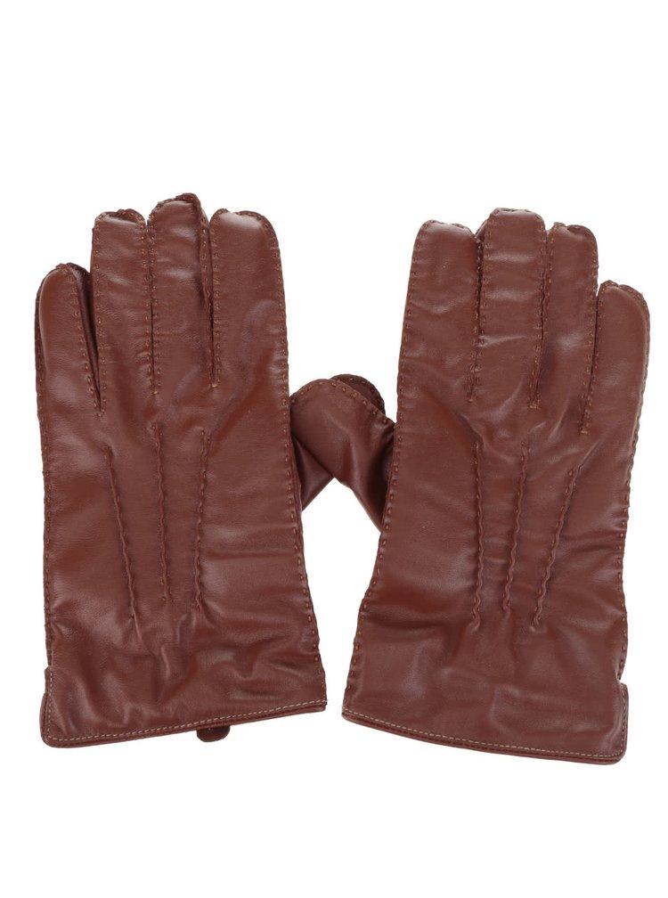 Mănuși maro Dice din piele
