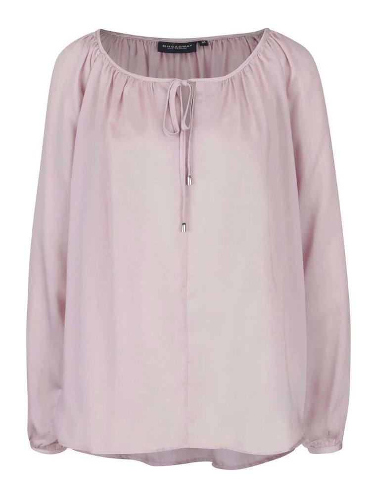Bluza lila cu croiala lejera Broadway Talika