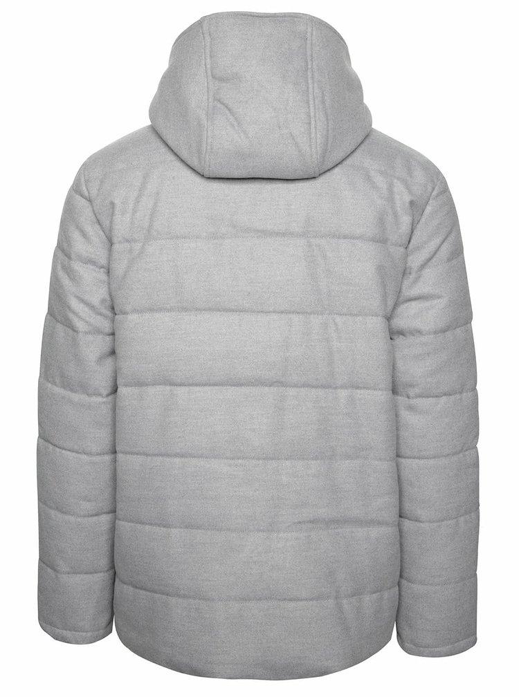 Šedá pánská zimní bunda s kapucí St John Broadway