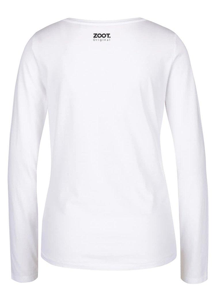 Bílé dámské tričko s dlouhým rukávem ZOOT Original Snowman