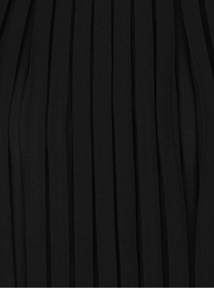 Černá volnější plisovaná halenka bez rukávů Broadway Vernell