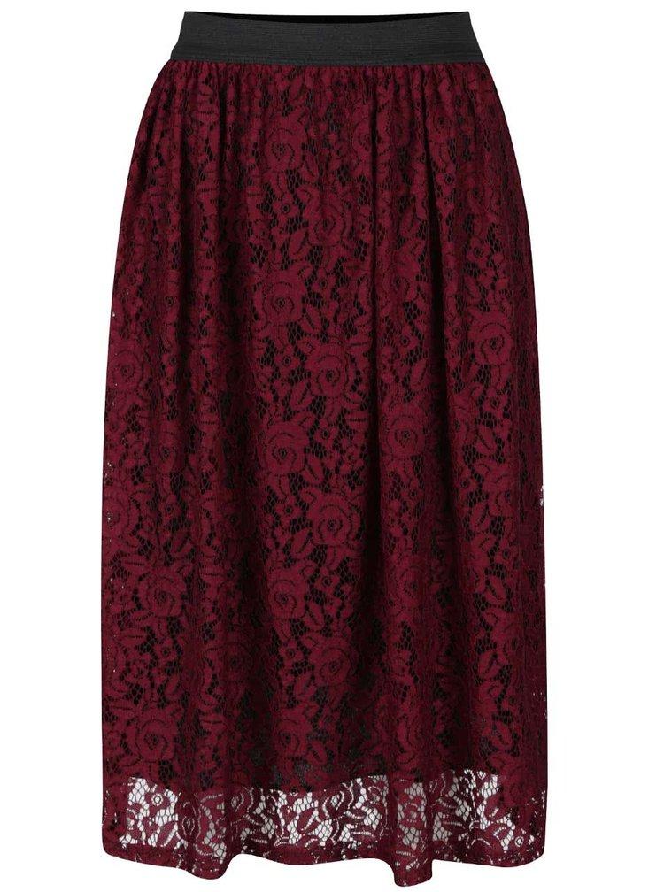 Vínová krajková sukně Alchymi Maeva