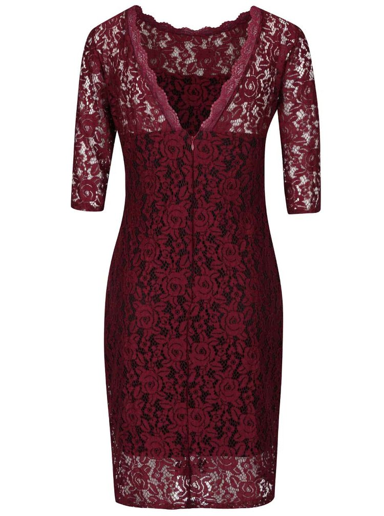 Vínové krajkové šaty Alchymi Parsa
