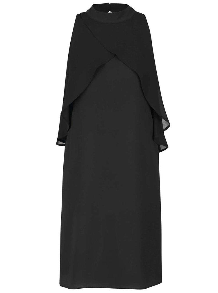 Černé volné šaty s volány Alchymi Rhea