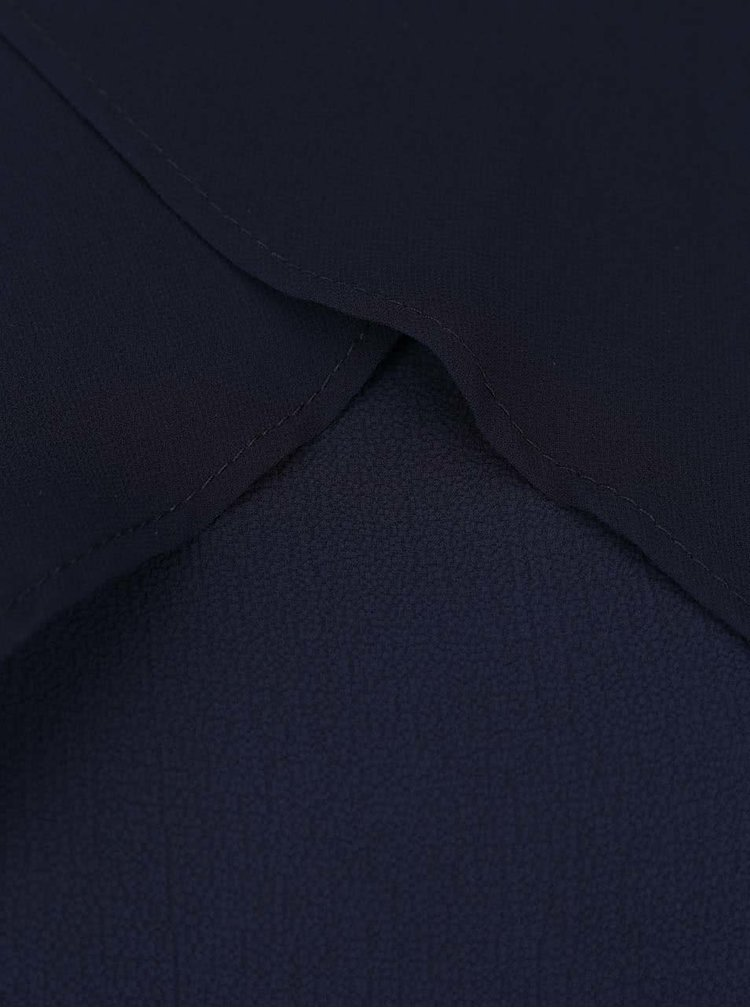 Tmavě modré volné šaty s volány Alchymi Rhea