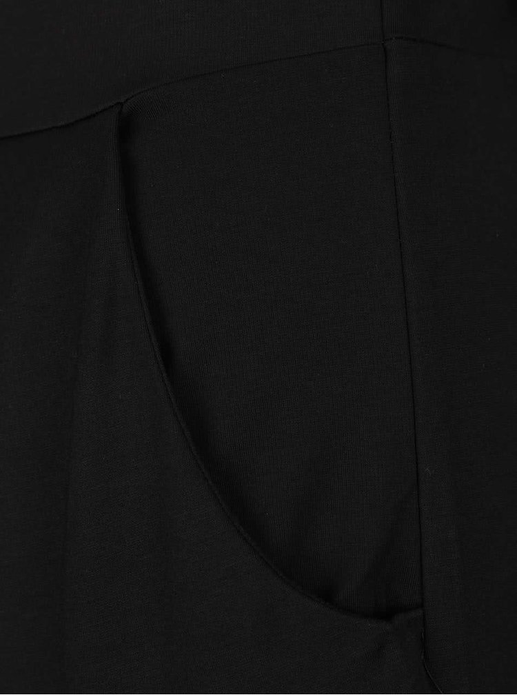 Černé volnější šaty s kapsami a krajkovými detaily Broadway Voula