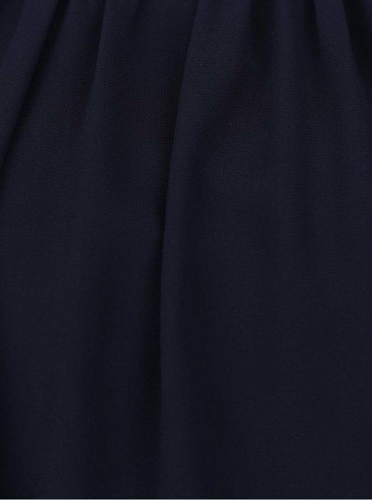 Modrý delší top se zdobením v dekoltu Alchymi Laverna