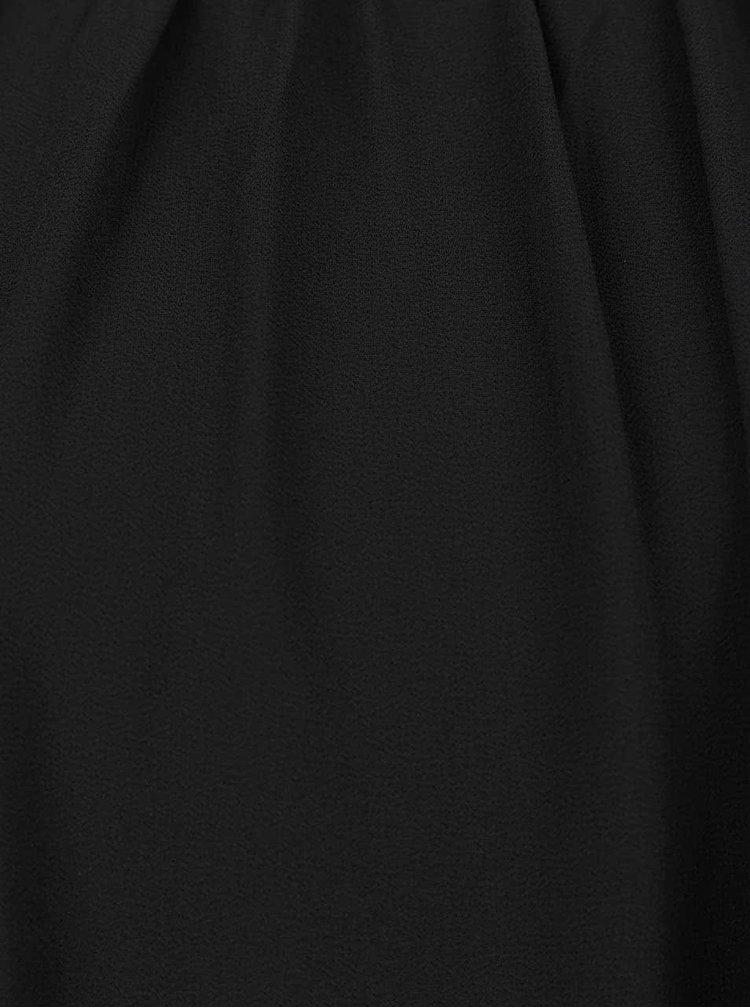 Černý delší top se zdobením v dekoltu Alchymi Laverna