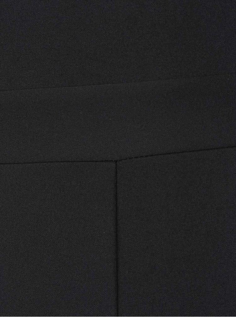 Černý overal na ramínka s průsvitnými detaily Miss Selfridge