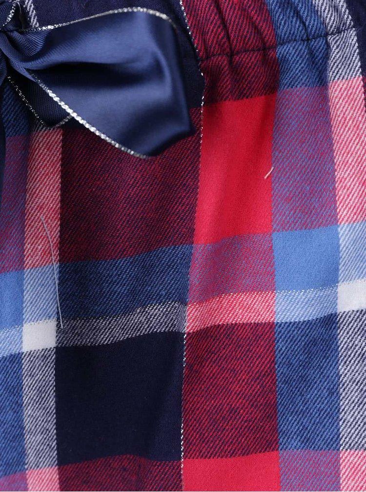 Červeno-modré pyžamo s potiskem a kamínky Lipsy Night