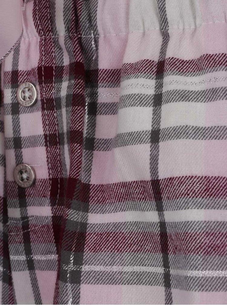 Krémovo-vínové pyžamo s potiskem a kamínky Lipsy
