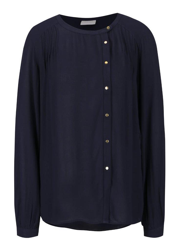Bluză albastru închis cu nasturi VILA Froza