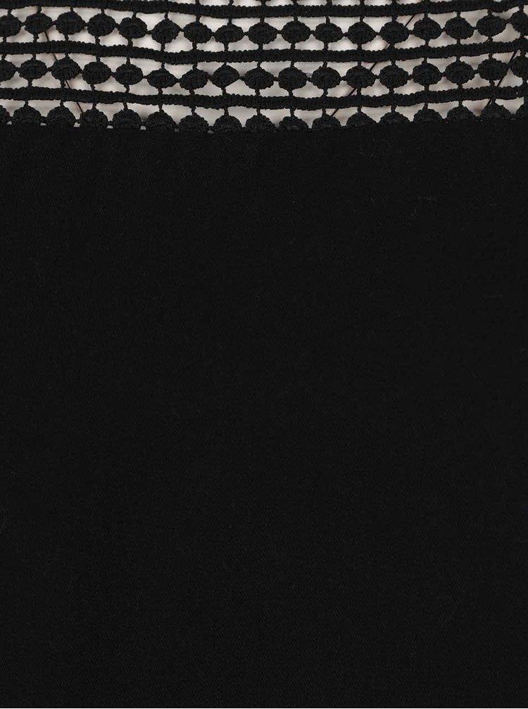 Černý top s krajkovými rukávy VILA Sommi