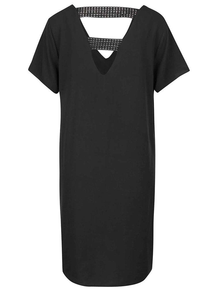 Rochie neagră cu detalii din dantelă VILA Sommi