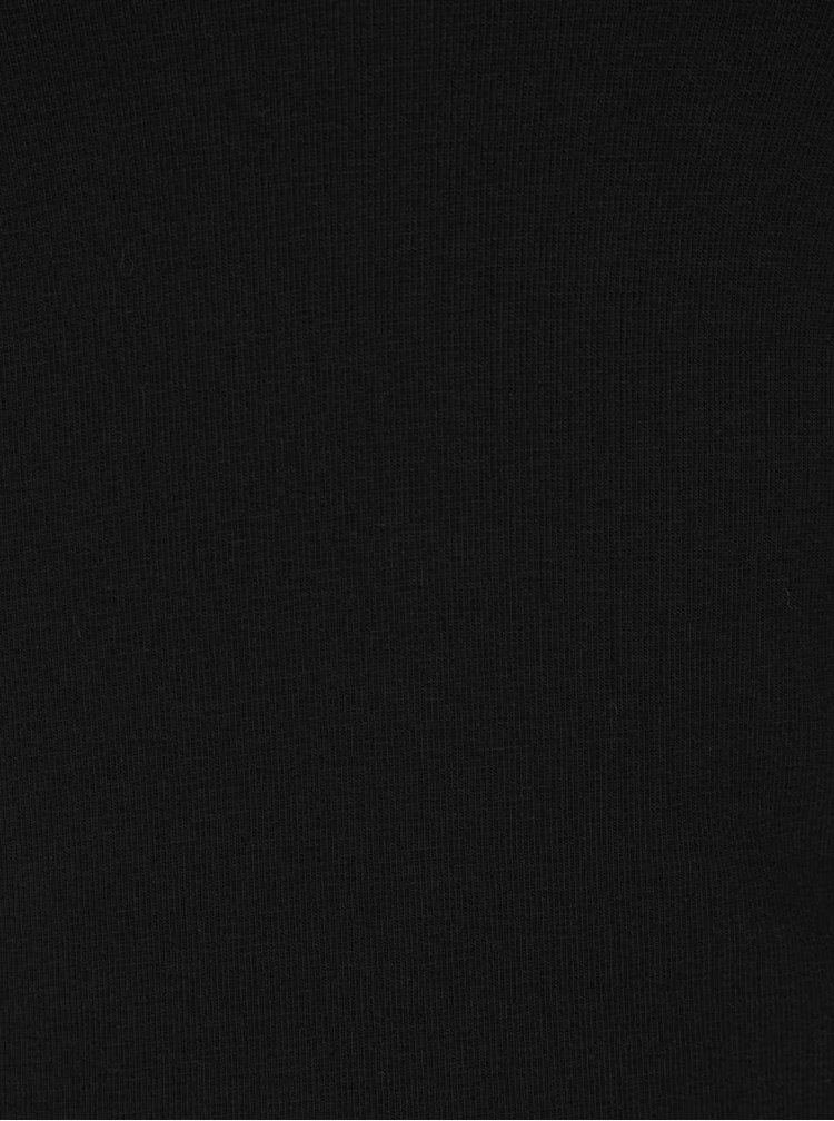 Bluză neagră Miss Selfridge cu umerii goi și bretele încrucișate
