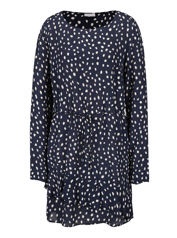 Rochie albastru închis cu buline stilizate VILA Laury