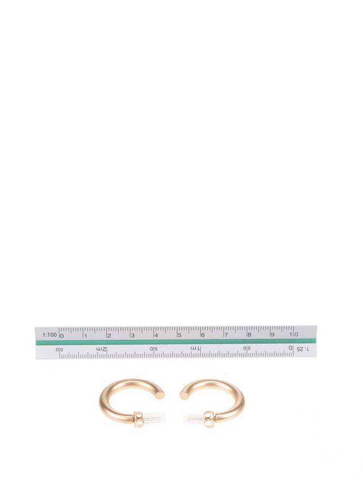 Kruhové náušnice ve zlaté barvě Pieces Bira