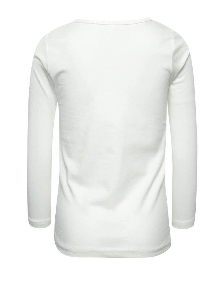 Krémové holčičí tričko s potiskem  name it Veen