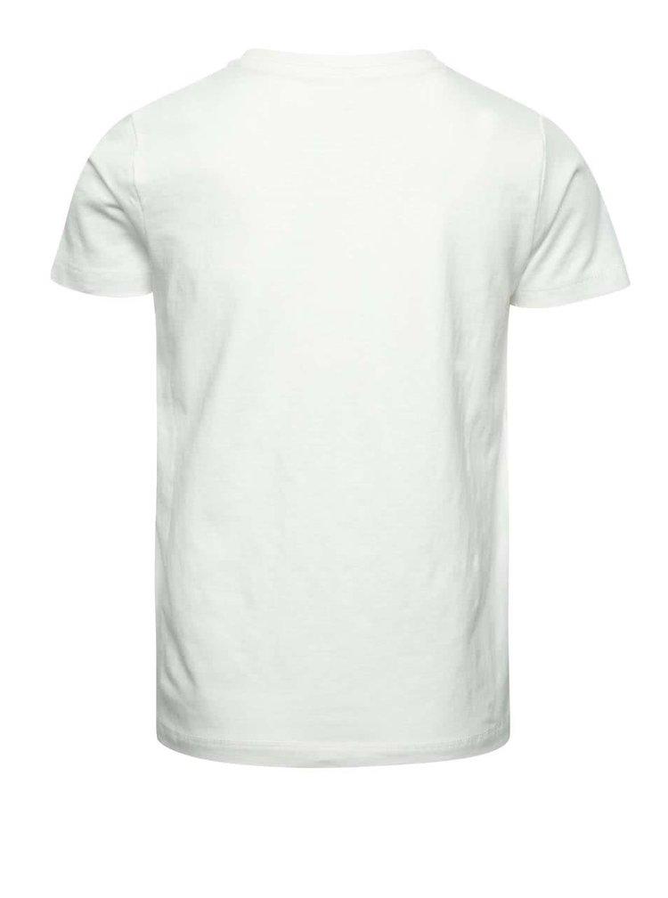 Krémové klučičí triko s barevným potiskem name it Dim