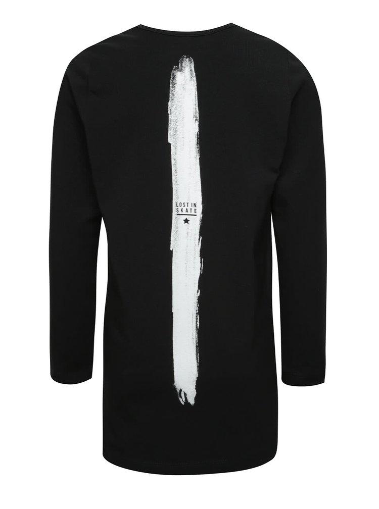 Černé klučičí triko s potiskem a dlouhým rukávem name it Demil
