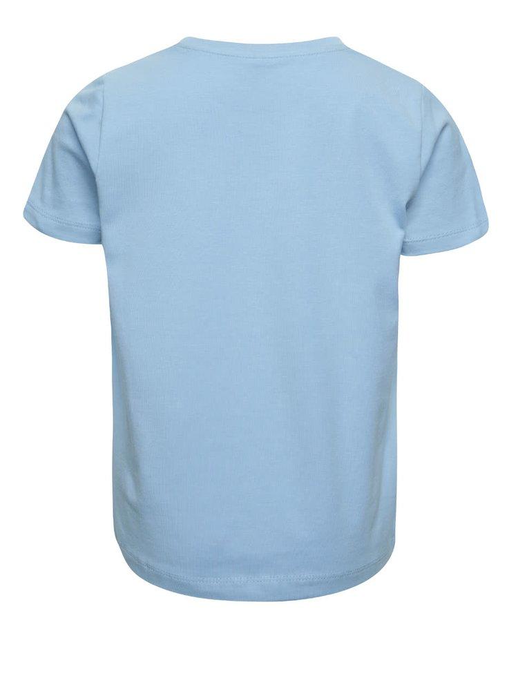 Modré klučičí triko s barevným potiskem name it Dim