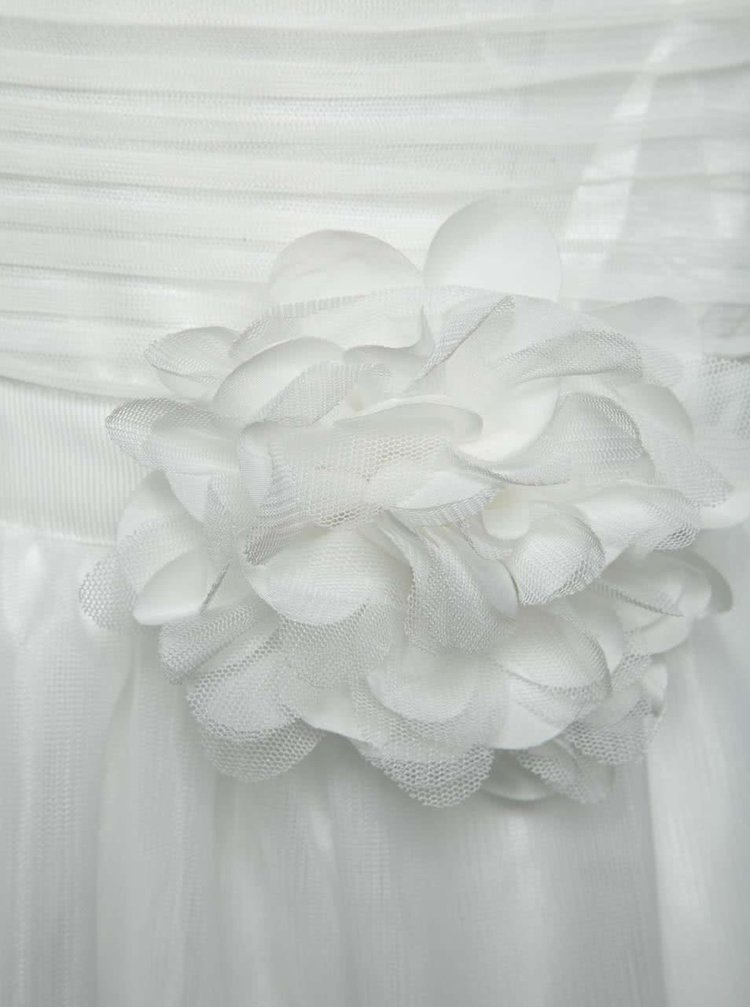 Rochie crem name it Cecilia cu detaliu floral în talie