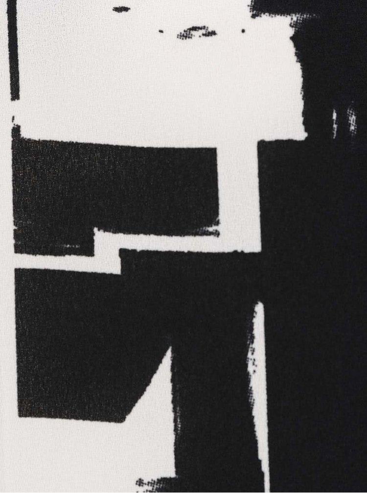 Krémovo-černá vzorovaná halenka ONLY Max
