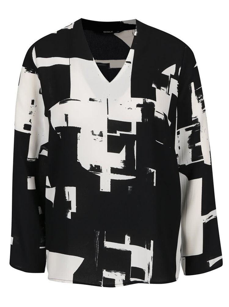 Bluză negru cu crem ONLY Max