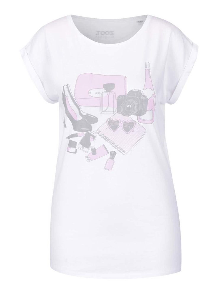 Tricou alb ZOOT Original Party Kit din bumbac cu print pentru femei