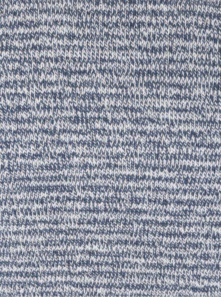 Krémovo-modrý žíhaný pruhovaný svetr ONLY & SONS Carnell