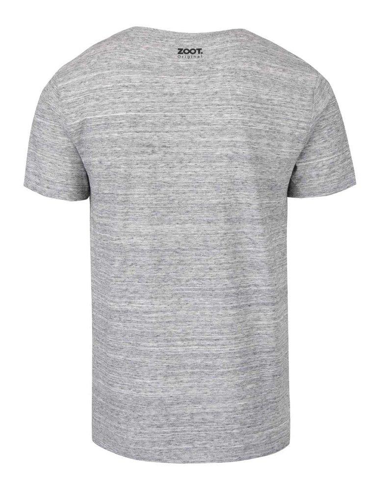 Tricou gri melanj ZOOT Original Same shit din bumbac pentru bărbați