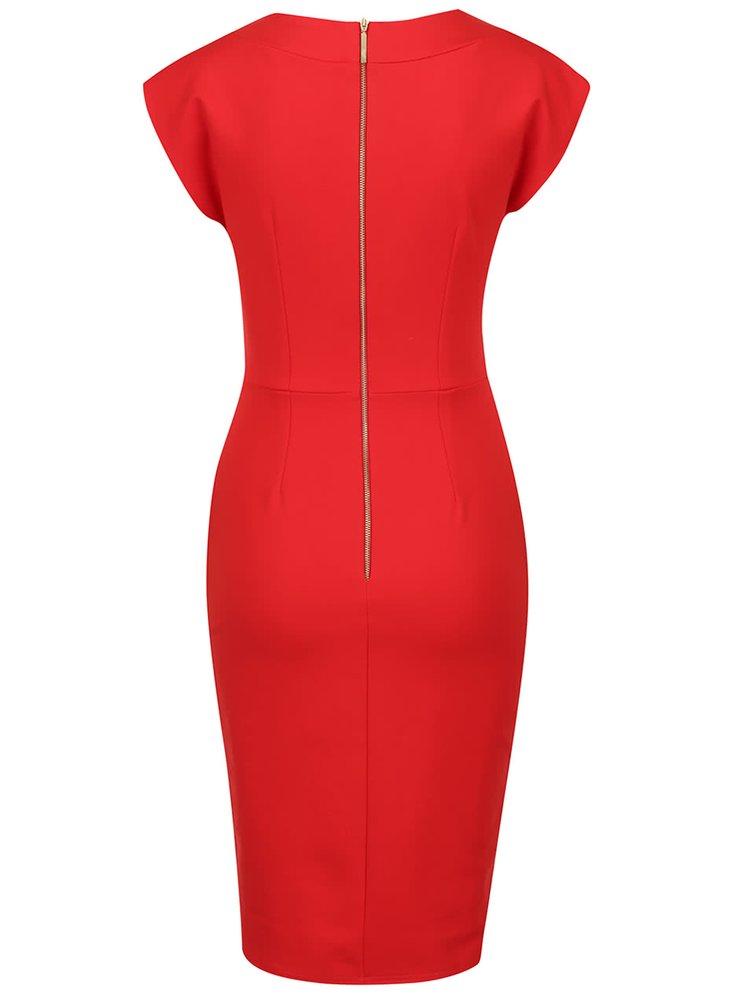 Rochie roșie cu decolteu în V Closet