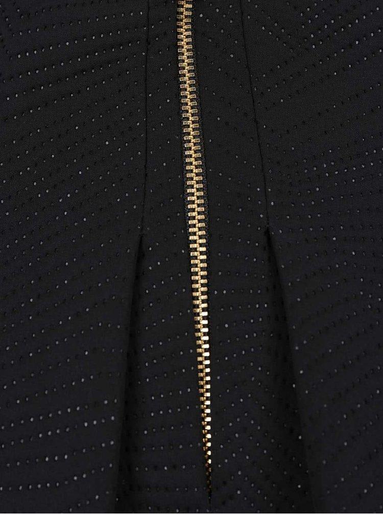 Černá midi sukně s jemným vzorem Closet