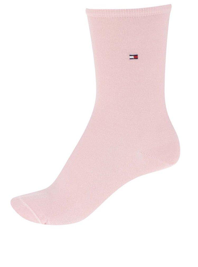 Sada dvou párů dámských ponožek v růžové a modré barvě Tommy Hilfiger