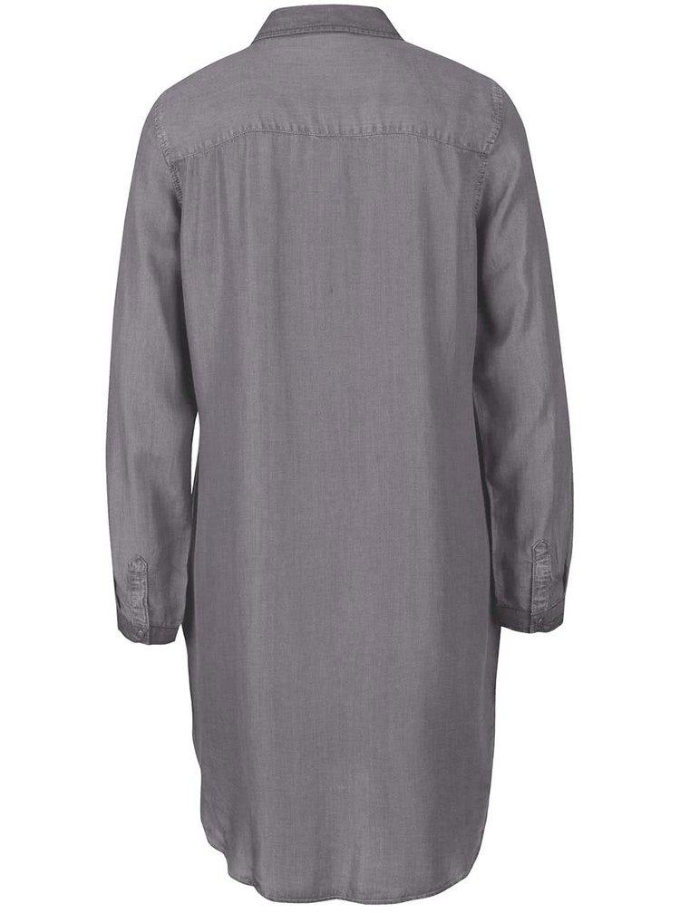 Rochie cămașă gri VERO MODA Daisy