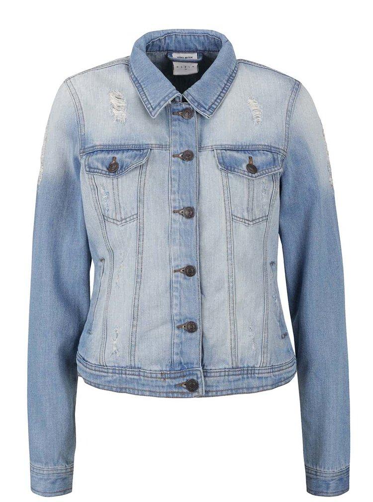 Jachetă albastră VERO MODA Danger din denim