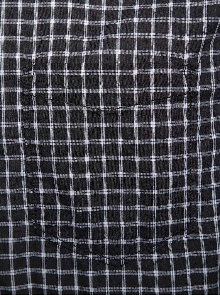 Bílo-černá pánská kostkovaná košile s.Oliver