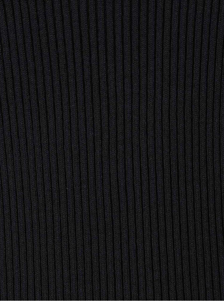 Černý žebrovaný svetr VERO MODA Glory