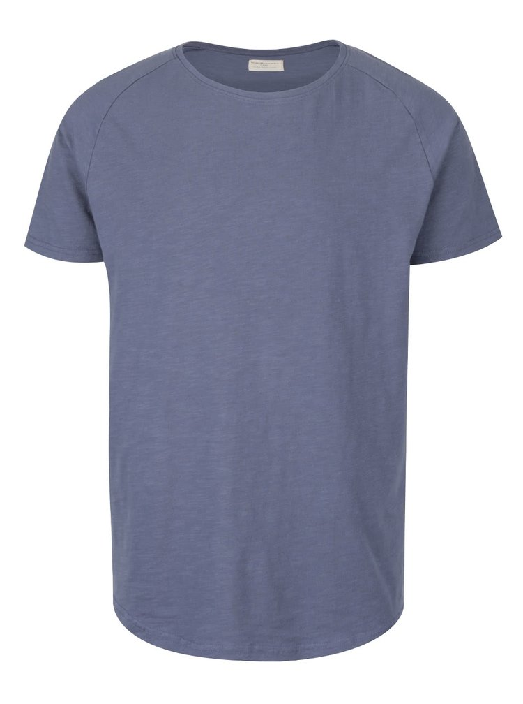 Tricou albastru Selected Homme Tease din bumbac