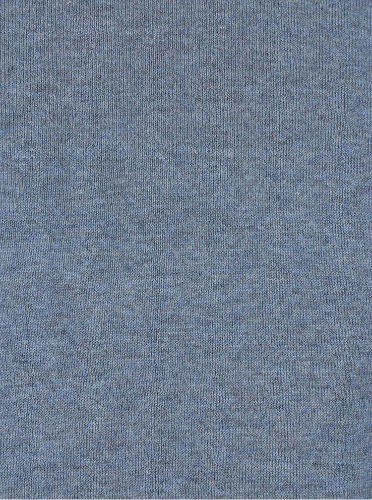 Světle modré tričko s dlouhým rukávem Selected Homme Dome