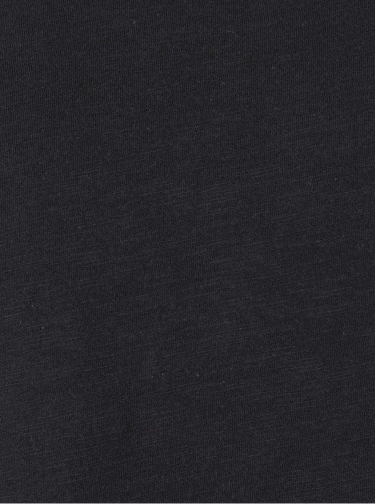 Černé basic triko Selected Homme Raw