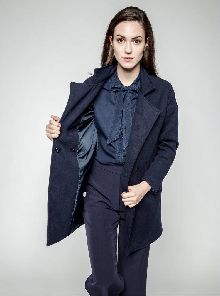 Palton albastru ZOOT cu guler cu revere
