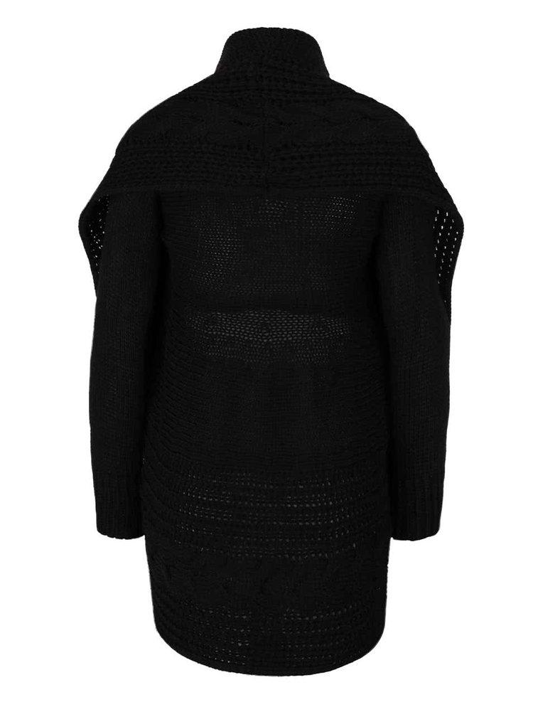 Černý kardigan bez zapínání Madonna Sunja