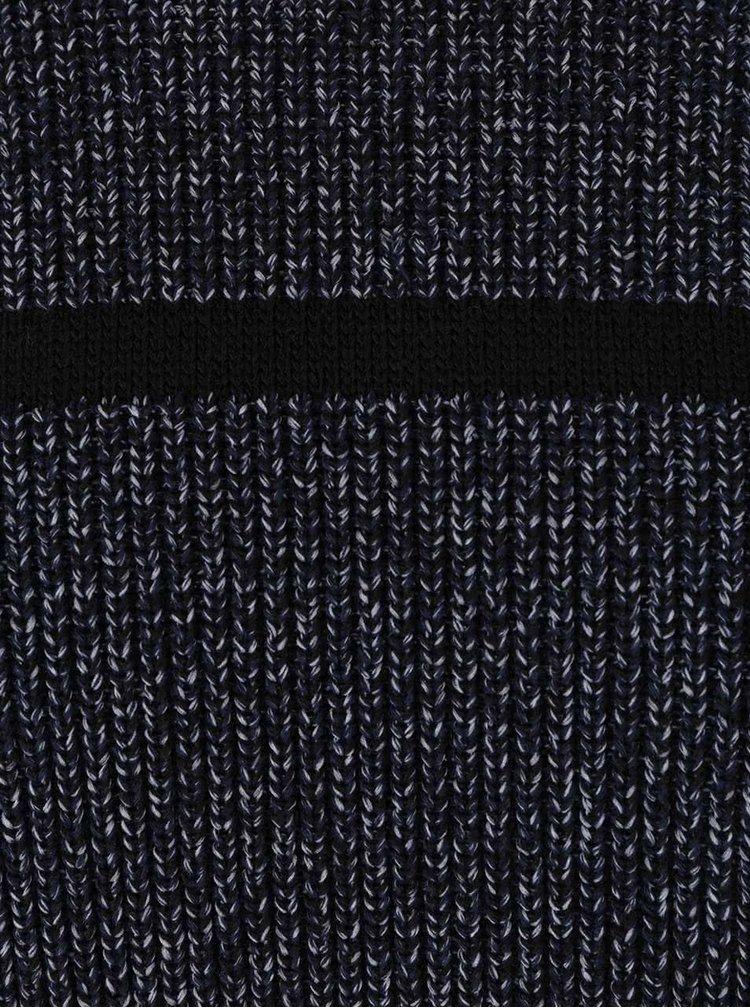 Tmavě modrý žíhaný pruhovaný svetr Jack & Jones Durham