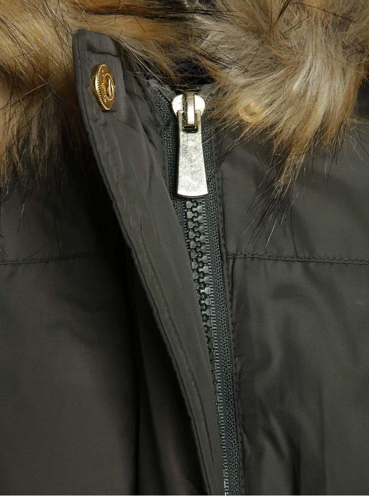 Kaki bunda s umelým kožúškom Dorothy Perkins